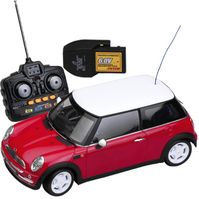 1:12 Scale Mini Cooper Red - 27 MHz photo - Click to see a larger version.