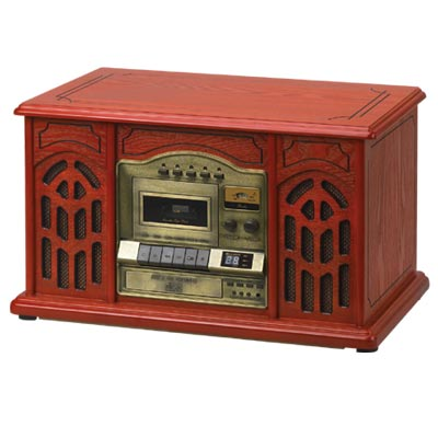 4-in-1 Classic Music Player - Plays records, cassettes and CD's and has AM/FM radio photo - Click to see a larger version.