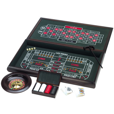 3-in-1 Large Wooden Casino Game photo - Click to see a larger version.