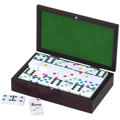 Double Nine Dominoes in Wooden Case photo - Click to see a larger version.